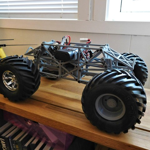 DSCN1168.JPG Download free STL file Fully printable Monster Truck • 3D printer design, tahustvedt