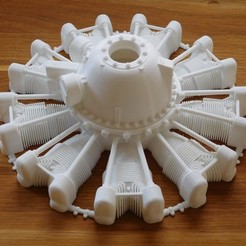 3d printer model Dummy radial engine. Pratt & Whitney R2800, tahustvedt