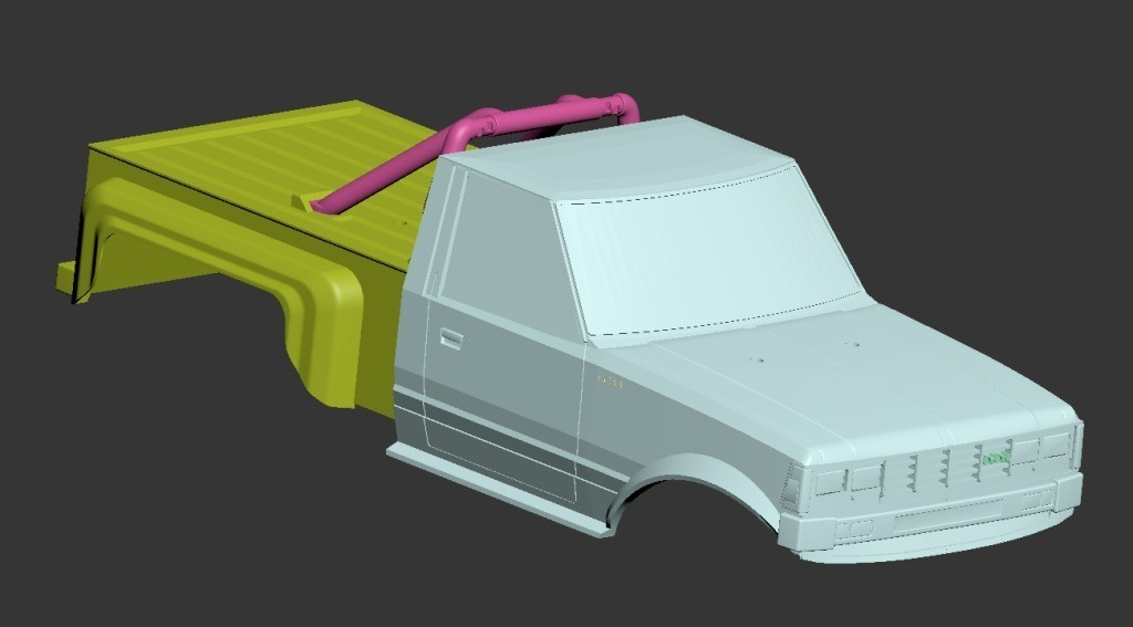Monster05.jpg Download free STL file Fully printable Monster Truck • 3D printer design, tahustvedt