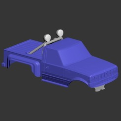 Download free 3D printing designs RC car scale pickup bodies., tahustvedt