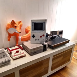 GameMan08.jpg Download free STL file Nintendo Game Man - Oversize Game Boy/Famicom Hack • 3D print object, tahustvedt