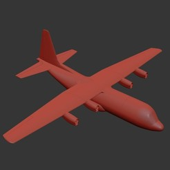 Free 3D printer files Simple Hercules - RC Semi scale 1:32 C-130 Hercules - 129 cm wingspan, tahustvedt