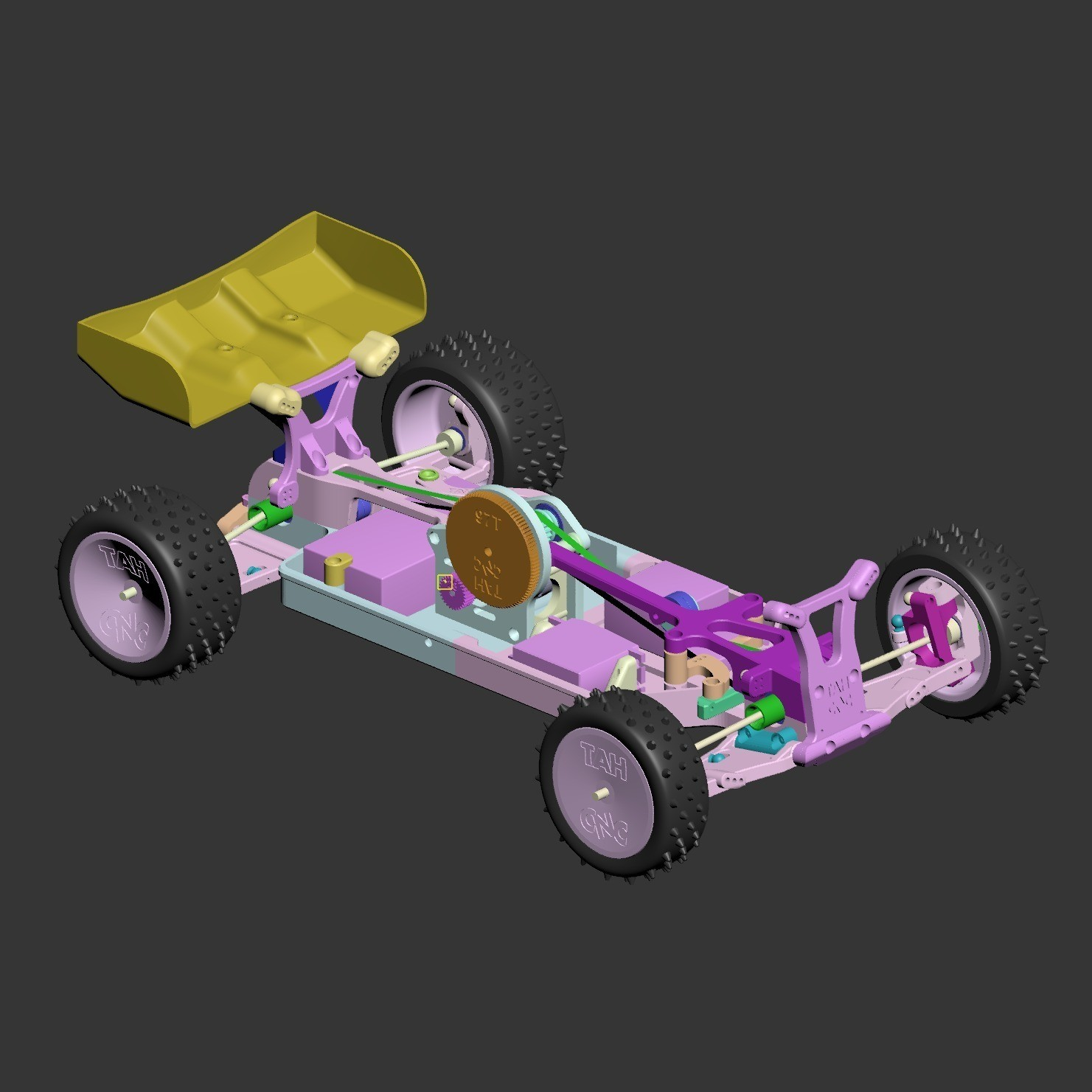 MKUltra07.jpg Download free STL file Mk Ultra - 3D printable 1/10 4wd buggy • Object to 3D print, tahustvedt