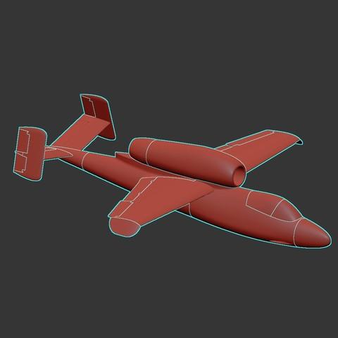 Télécharger STL gratuit Maquette à l'échelle 1:32 d'un He-162 A-2, tahustvedt