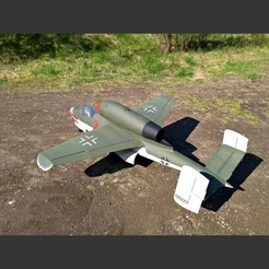 Download 3D printing files Giant 1:4,5 scale Heinkel He-162 A2 RC jet model, tahustvedt