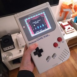 GameMan01.jpg Download free STL file Nintendo Game Man - Oversize Game Boy/Famicom Hack • 3D print object, tahustvedt