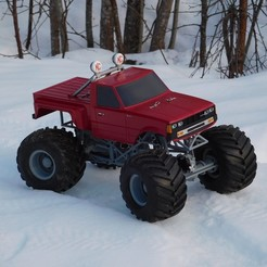 modelo stl gratis Fully printable Monster Truck, tahustvedt