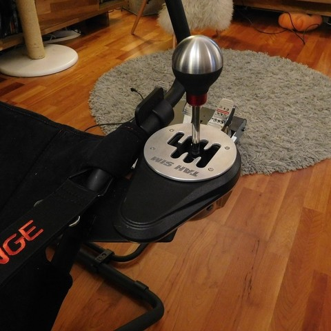 Download 3D printing templates Playseat Challenge Thrustmaster TH8 shifter mount, tahustvedt