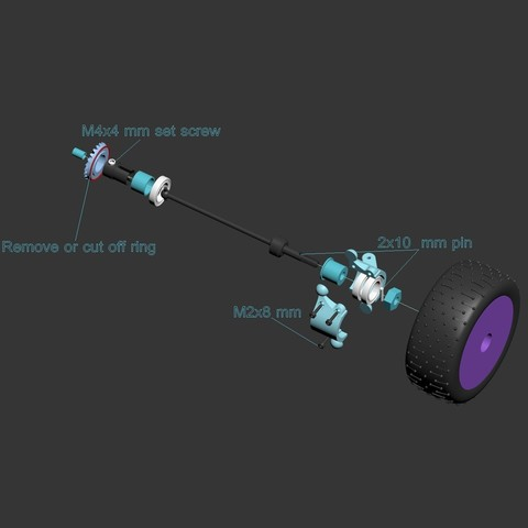 Buggy13.jpg Download free STL file Lynx - Fully 3D-printable 1/10 4wd buggy • Object to 3D print, tahustvedt