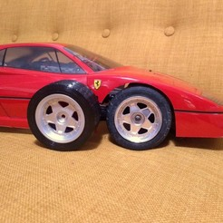 Download free 3D printing templates Kyosho Ferrari F40 wheels and tires, tahustvedt