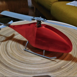 Download free STL Fully Printable Fixed Pitch RC helicopter., tahustvedt