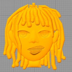 "Free 3D printer designs Lil Pump's necklace from the ""I Love It"" video, tahustvedt"