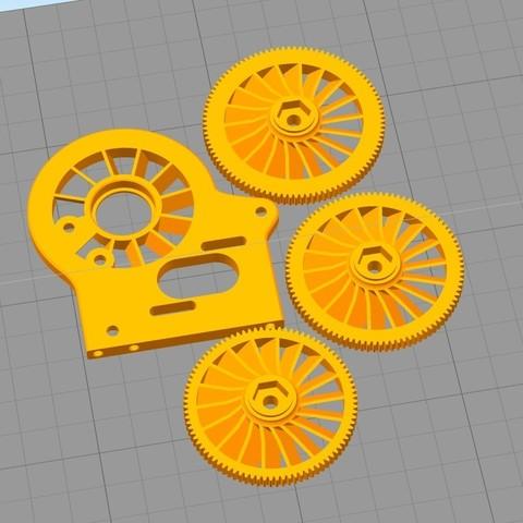 Free STL files Cooling fan spur gear - Option part for MKUltra 1/10 4WD Buggy, tahustvedt