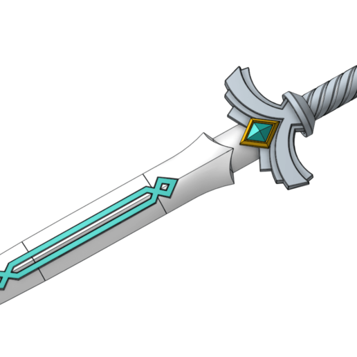 sword_1.png Download free STL file Link Goddess Sword (without painting) • 3D printable template, lipki