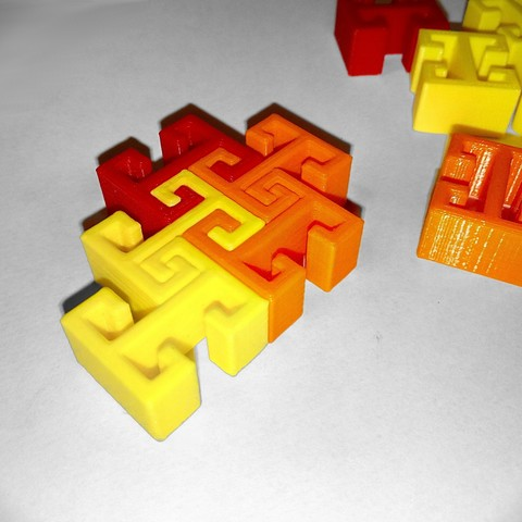 Download free 3D printer designs Simple print parts for multicolored mosaic, lipki