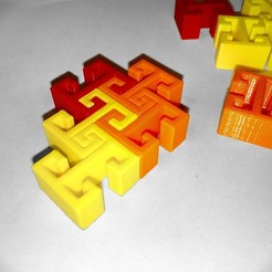 Free 3D printer designs Simple print parts for multicolored mosaic, lipki