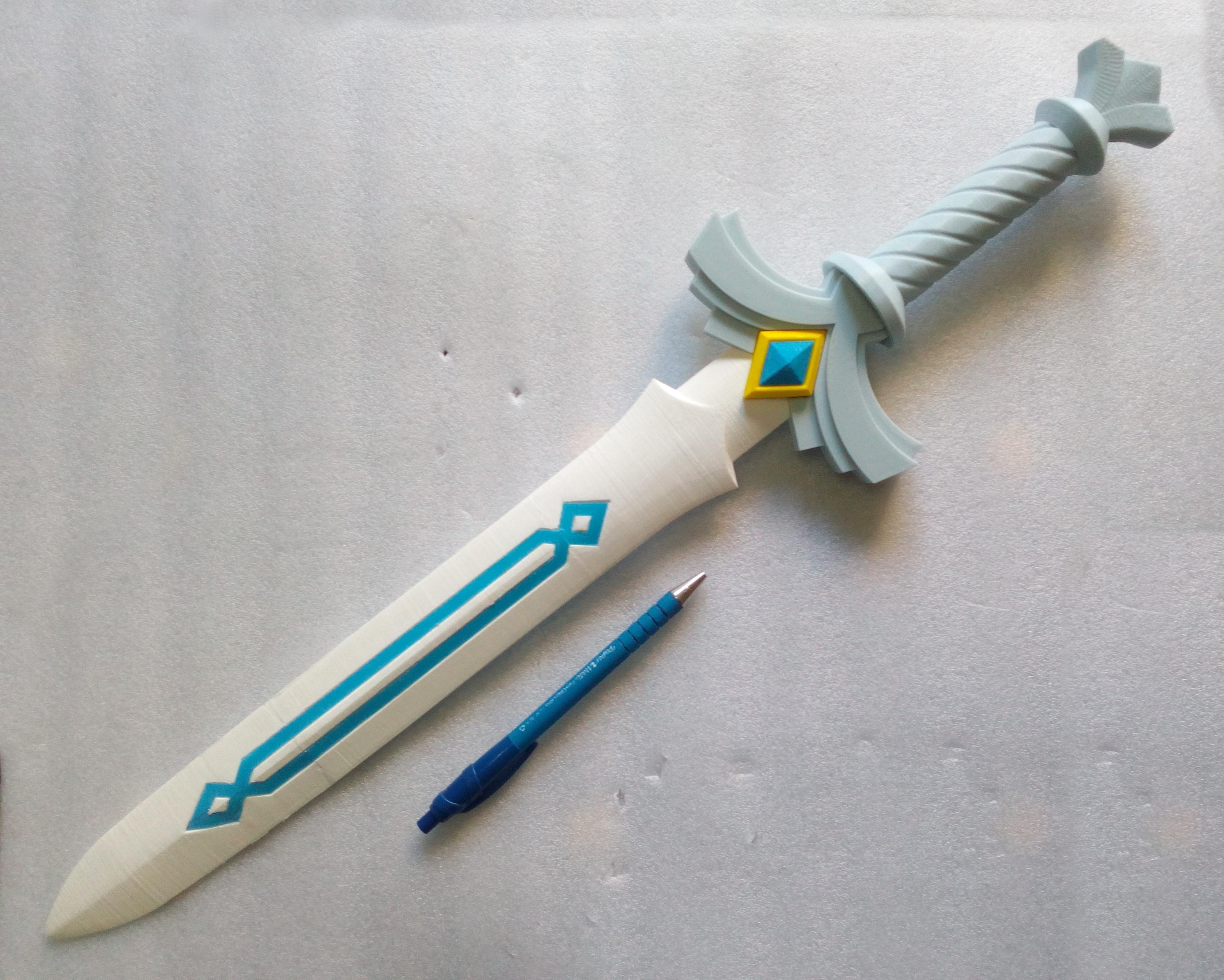 IMG_20190920_152138.jpg Télécharger fichier STL gratuit Link Goddess Sword (without painting) • Design pour imprimante 3D, lipki