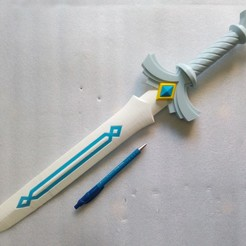 Download free 3D printer designs Link Goddess Sword (without painting), lipki