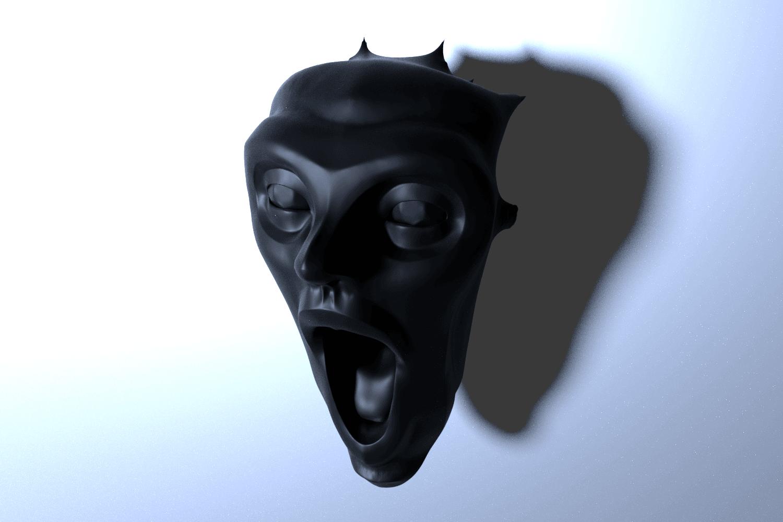 rendu.png Download free STL file Scream • 3D printable model, lipki