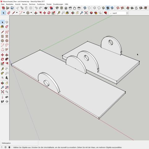 Sketchup.png Download free STL file Mouse Slide • 3D print template, pullrich