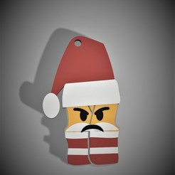 Download free 3D printer files Yellow vest Angry Santa Claus, delphano62