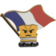Download free STL files Angry yellow vest flag bearer, figurine, delphano62