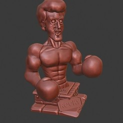 rocky.jpg Télécharger fichier STL Rocky Balboa Rambo Rambo Stallone • Objet pour imprimante 3D, DelaTorre