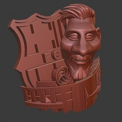 messicampnou.jpg Download STL file Messi Barcelona Campnou • 3D printable model, DelaTorre
