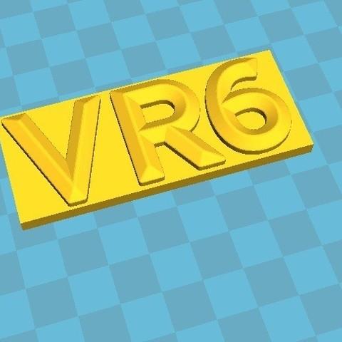 Download STL file logo-vr6 • Model to 3D print, snoupypop