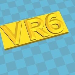 Download 3D printing models logo-vr6, snoupypop