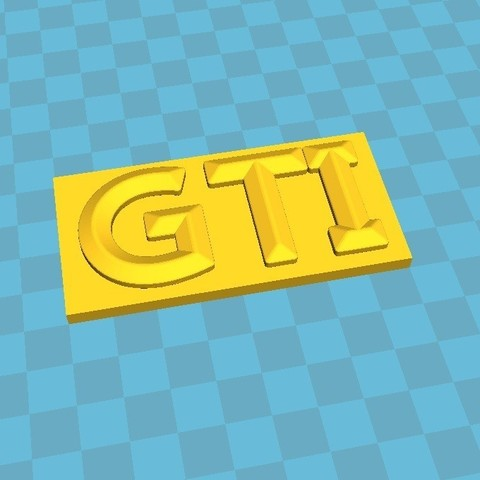 Download STL file Logo gti • 3D printing object, snoupypop