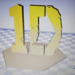 Download free 3D printer files One Direction Logo, Yoelito