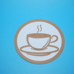 Download free 3D printer designs Coffee Coaster, snagman