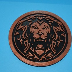 Valor.JPG Download free STL file Valor Lion Logo Coaster • 3D printer object, snagman