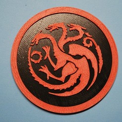 Download free 3D printer files Targaryen coaster, snagman