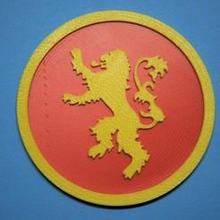 Download free 3D printer designs Lannister coaster, snagman