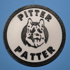 Download free 3D printer model Letterkenny Pitter Patter coaster, snagman