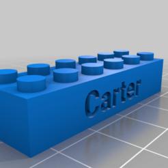 Download free 3D printer model Carter brick, snagman