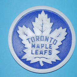 Download free 3D printer templates Maple Leafs coaster, snagman