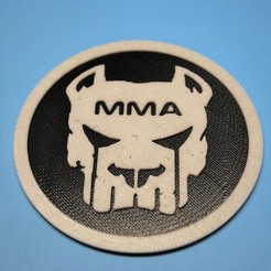 Télécharger fichier 3D gratuit Dessous de verre Pitbull MMA, snagman