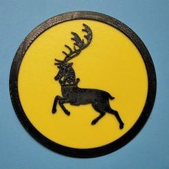 Download free 3D printer designs Baratheon coaster, snagman