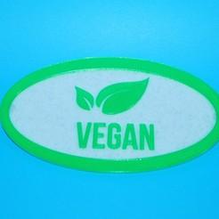 Vegan_Fridge_Magnet.JPG Télécharger fichier STL gratuit Aimant végétalien pour réfrigérateur • Design à imprimer en 3D, snagman