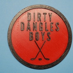 Dirty_Dangles.JPG Download free STL file Letterkenny Dirty Dangles Boys coaster • 3D printable template, snagman