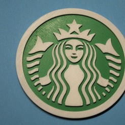 DSC_0027.JPG Download free STL file Starbucks coaster • 3D printer template, snagman