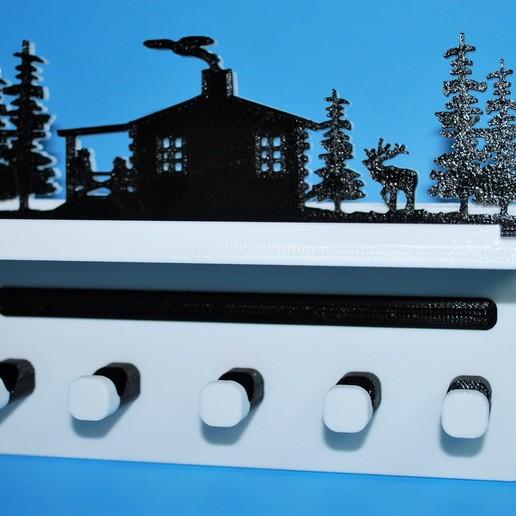 Cabin.JPG Télécharger fichier STL gratuit Porte-clés • Design pour imprimante 3D, snagman