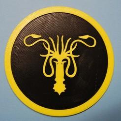Greyjoy.JPG Télécharger fichier STL gratuit Dessous de verre Greyjoy • Objet pour impression 3D, snagman