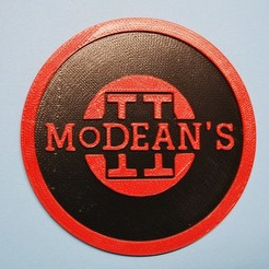 Download free 3D printing designs Letterkenny Modeans coaster, snagman