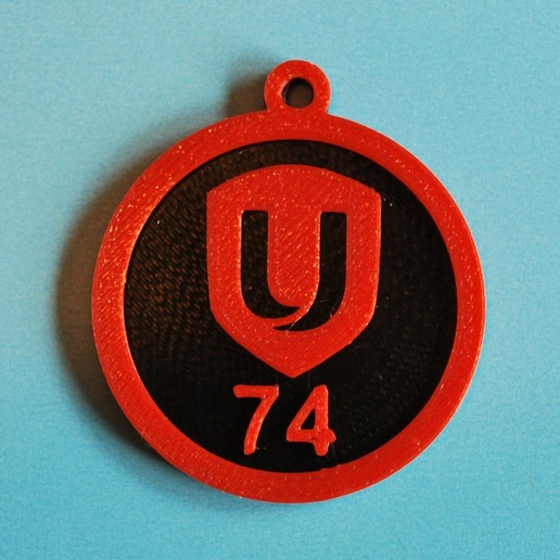 Download free 3D printer designs Unifor Local 74 keychain, snagman