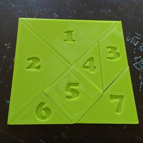 Download free 3D printing files Tangram with numbers, Ing-Ki