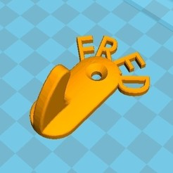 Download STL file Hook First name Fred • Object to 3D print, Lesfredlumieres